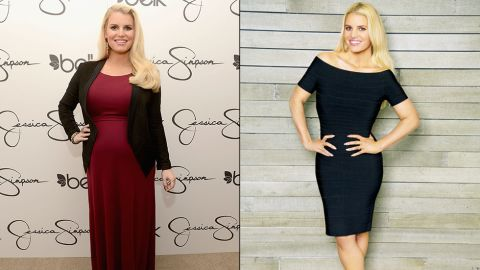 """Jessica Simpson showed off a supersvelte look in <a href=""""http://www.youtube.com/watch?v=m-apbPOVGrM"""" target=""""_blank"""" target=""""_blank"""">a Weight Watchers ad </a>released in February 2014. """"I was so insecure -- I couldn't even believe what I weighed,"""" Simpson told """"Good Morning America."""" The singer/fashion mogul says she is feeling better than ever since giving birth to her second child."""