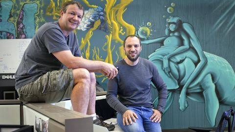 A number of entrepreneurs have parlayed tiny tech startups into millions, or even billions. The latest to hit the jackpot: WhatsApp founders Brian Acton, left, and Jan Koum, who sold their mobile messaging service to Facebook for $19 billion in cash and stock.