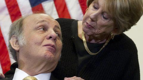 Sarah Brady with her husband, Jim