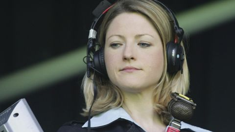 Jacqui Oatley became the first female broadcaster to commentate on Match of the Day -- the BBC's flagship football highlights show.