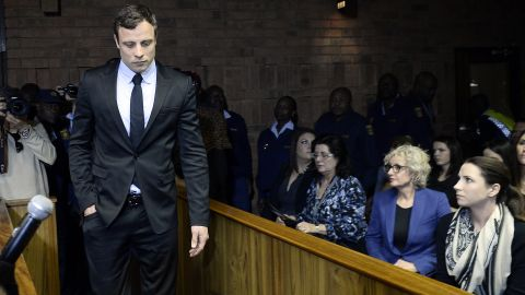 """South African sprinter Oscar Pistorius was charged with murdering his girlfriend, model Reeva Steenkamp, in February 2013. Pistorius, the first double-amputee runner to compete in the Olympics, was convicted of murder and <a href=""""http://www.cnn.com/2016/07/06/africa/oscar-pistorius-sentence/index.html"""" target=""""_blank"""">sentenced to six years in prison.</a>"""