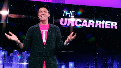 T-Mobile President and CEO John Legere speaks at the 2013 International Consumer Electronics Show in Las Vegas.