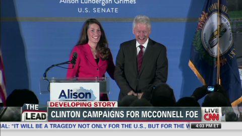 lead McPike dnt on Bill Clinton stumping for Democrat in key Senate race   _00001914.jpg