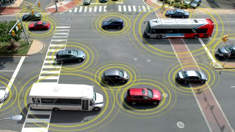 """Emerging technology from several automakers promises<a href=""""http://www.cnn.com/interactive/2014/02/tech/cnn10-future-of-driving/"""" target=""""_blank""""> vehicles that can communicate</a> with each other about weather, traffic and road conditions and, more urgently, warn each other when a wreck is imminent."""