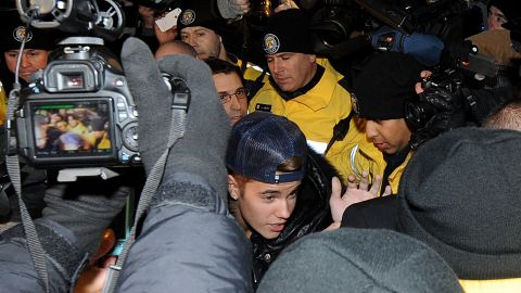 """<strong>10. Got arrested. Twice. In one week:</strong> In case anyone, anywhere missed the memo about Bieber being music's newest bad boy, the star got himself arrested twice in one week. He was arrested in Miami on January 23, 2014, on a DUI charge, and again in Toronto on January 29 for an alleged assault charge. Not to mention he was also dealing with California officials who are investigating <a href=""""http://www.cnn.com/2014/02/25/showbiz/justin-bieber-legal-troubles/index.html?iref=allsearch"""" target=""""_blank"""">a potential vandalism charge for an alleged egging. </a>"""