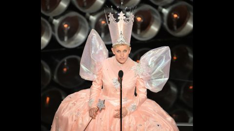 """DeGeneres channels Glinda the Good Witch from """"The Wizard of Oz."""""""