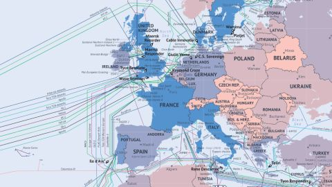 """The information age is powered by thin fiber-optic cables buried in the sea bed, spreading between continents to connect the most remote corners of the planet. These great arteries account for practically all of our international web traffic, and each one has been logged by Washington research firm <a href=""""http://www.telegeography.com/"""" target=""""_blank"""" target=""""_blank""""><strong>Telegeography</strong></a> in its interactive Submarine Cable Map 2014. The company's research director<strong> Alan Mauldin</strong> told CNN about the world's underwater networks. Click through the gallery to find out more.<br />- Interview by <a href=""""https://twitter.com/KieronMonks"""" target=""""_blank"""" target=""""_blank""""><strong>Kieron Monks</strong></a>"""