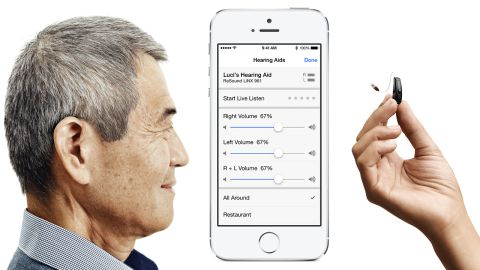 The new LiNX hearing aids from ReSound are specially designed to work with Apple mobile devices.