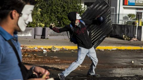 Protesters clash with the National Guard during a protest in Caracas on Tuesday, March 4.
