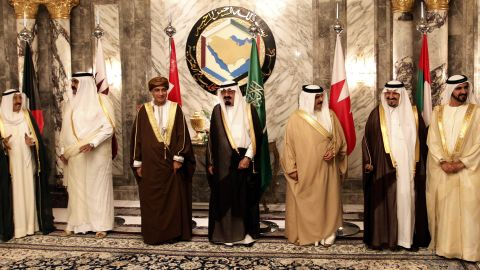 [File photo] Arab gulf leaders before the opening of the Gulf Cooperation Council consultative summit in Riyadh, Saudi Arabia.