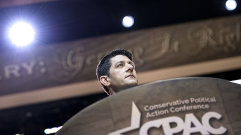 Rep. Paul Ryan (R-WI), House Budget Committee Chairman, speaks during the American Conservative Union Conference March 6, 2014 in National Harbor, Maryland. The annual conference is a meeting of politically conservatives Americans.