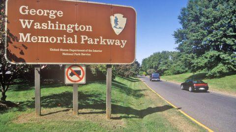 George Washington Memorial Parkway in Washington, Virginia and Maryland came in fourth place on this list of most-visited park sites in 2014.
