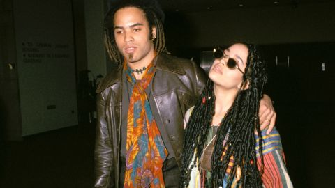 """Lenny Kravitz and former """"Cosby Show"""" star Lisa Bonet seemed tailor-made for each other, right down to their love of hippie style. The pair met at a New Edition concert in 1985 and married in 1987, welcoming daughter Zoe a year later. """"We were very young, and it was wonderful,"""" Kravitz recalled in 2013. Now, """"Zoe's mom and I are best friends,"""" Kravitz said. """"It's interesting because that's how the relationship started."""" Bonet is now married to actor Jason Momoa."""