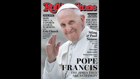 """In another papal first, Pope Francis made the cover of Rolling Stone in January. The magazine praised his """"obvious humility"""" and """"empathy."""""""