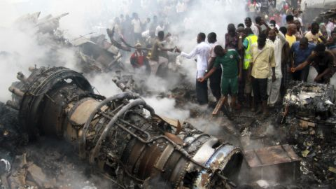 """<a href=""""http://www.cnn.com/2012/06/03/africa/gallery/nigeria-plane-crash/index.html"""">A Dana Air MD-83 carrying 153 people</a> crashed on June 3, 2012, in a residential neighborhood in Lagos, Nigeria's most populous city. No one on the plane survived, and 10 people on the ground were killed."""
