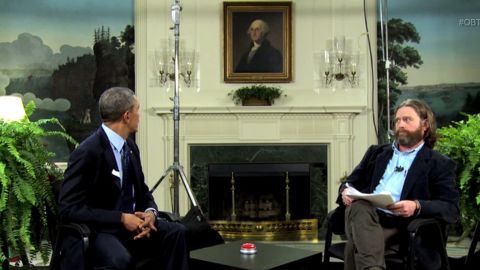 """President Barack Obama appeared with comedian Zach Galifianakis for the """"Funny or Die"""" online show """"Between Two Ferns"""" to push young adults to sign up for Obamacare. The President has an uneven record on delivering one-liners. Click through the images to see him as comedian in chief."""