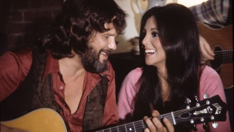 """Kris Kristofferson was among the stars to lend his voice to """"Free to Be... You and Me."""" Others included Alan Alda, Carol Channing, Shirley Jones and Mel Brooks. Kristofferson is shown with actress Marlo Thomas, who created """"Free to Be... You and Me."""""""