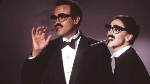 """Harry Belafonte and Thomas appeared in Groucho Marx costumes in the 1974 special """"Free to Be... You and Me."""" The pair performed the song """"Parents are People."""""""