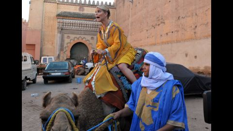 """In 2010, VH1 aired a documentary reality series called """"The Price of Beauty"""" starring Simpson and two friends as they traveled the world seeking the true meaning of beauty in different cultures. Here she is in Morocco."""