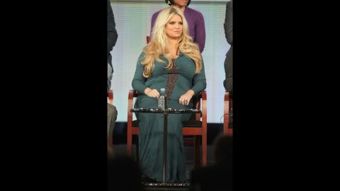 """Simpson gained 70 pounds during her first pregnancy with daughter Maxwell. She signed a deal with Weight Watchers shortly afterward. Stepping on the scale at the first meeting, """"I thought my life was completely over,"""" <a href=""""http://www.etonline.com/news/129947_Jessica_Simpson_Talks_Weight_Watchers_Weight_Loss/"""" target=""""_blank"""" target=""""_blank"""">she told ET Online</a>. """"I was not expecting to see the number that I saw, because it's just never a number that I could fathom weighing. ... Standing on the scale, and faced with a severe truth -- and I didn't know if I could do it."""""""