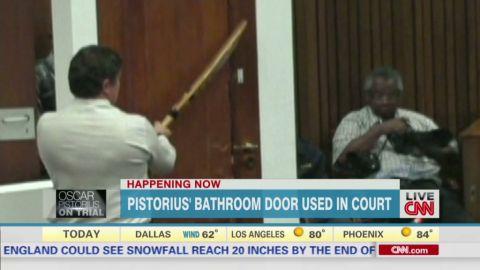 pistorius trial bathroom door used in court curnow dnt Newday _00001430.jpg