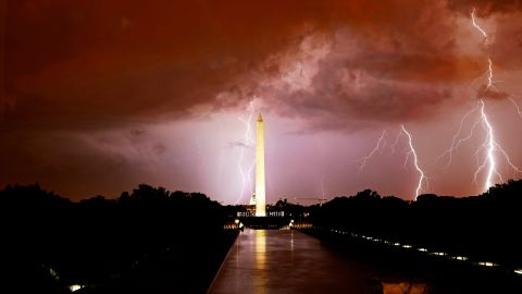 """Aspiring photographer <a href=""""http://ireport.cnn.com/docs/DOC-844035"""">Kevin Wolf</a> captured a photo of a lightning storm in Washington in September 2012. He says he caught this photo by keeping the shutter of his camera open for 60 seconds."""