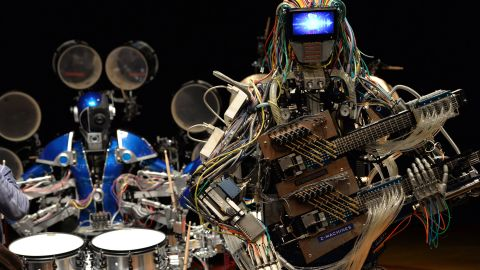 """Meet """"Z-Machines,"""" the three piece robot band bringing a whole new meaning to electronic music."""