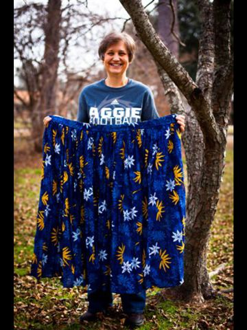 Henson keeps this skirt she used to wear as a reminder of how far she's come.