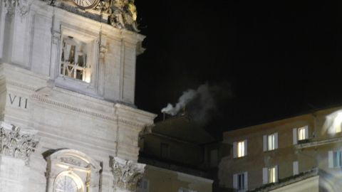 """Camaya remembers the night white smoke poured from the Vatican chimney, signaling that a new pope had been chosen. """"This was one event that left me teary-eyed and thanking God for making me a Catholic,"""" he said."""