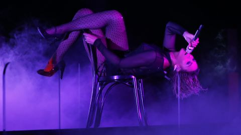 """Beyonce performs """"Drunk in Love"""" at the 56th Annual Grammy Awards in Los Angeles in January 2014."""