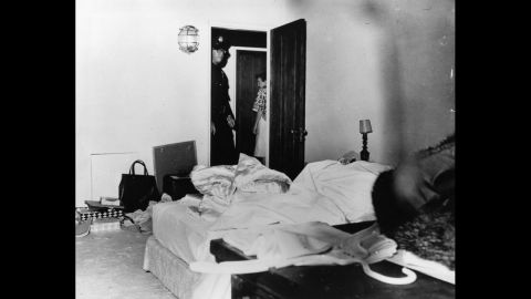 """The Los Angeles County coroner ruled that actress Marilyn Monroe's death in this room was a """"probable suicide"""" from an overdose of barbiturates. Despite the official conclusion, questions have lingered for decades about Monroe's death in August 1962 at the age of 36."""