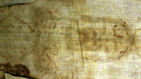 The Shroud of Turin may be the most famous religious relic. <br />Some Christians believe the shroud, which appears to bear the imprint of a man's body, to be Jesus Christ's burial cloth. The body appears to have wounds that match those the Bible describes as having been suffered by Jesus on the cross. Many scholars contest the shroud's authenticity, saying it dates to the Middle Ages, when many purported biblical relics -- such as splinters from Jesus' cross -- surfaced across Europe.