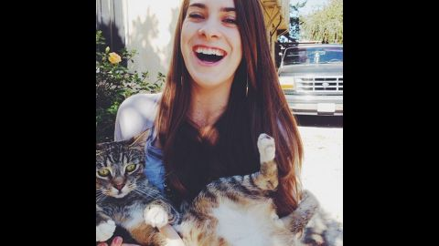 """Goulder takes several medications so that she can enjoy her pets. """"I would never recommend this lifestyle to another person but I love my cats and I wouldn't change my life for anything!"""" she wrote in her iReport."""