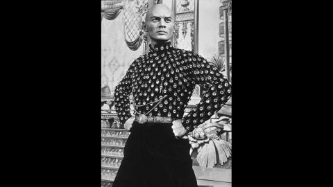 """Russian-born Yul Brynner plays the King of Siam in the 1956 musical """"The King and I."""""""