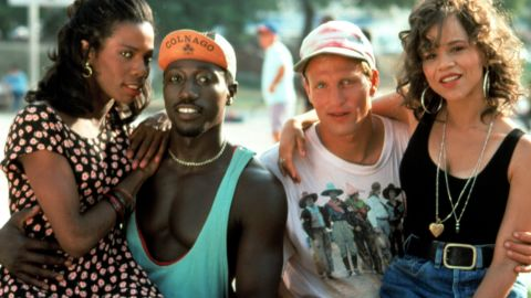 """Tyra Ferrell (from left), Wesley Snipes, Woody Harrelson and Rosie Perez starred in 1992's """"White Men Can't Jump."""""""