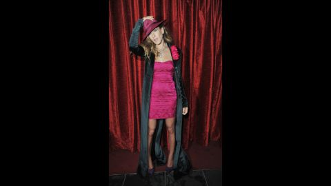 """Actress Sarah Jessica Parker wears a L'Wren Scott dress in December 2009 as she attends the after-party for the London premiere of """"Did You Hear About the Morgans?"""""""