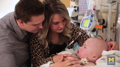 The Petersons and their son, Garrett, before his surgery.