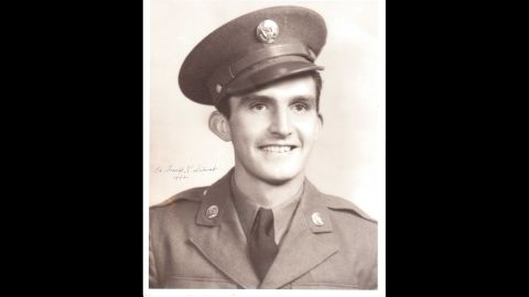 First Lt. Donald K. Schwab distinguished himself with his actions on September 7, 1944, when led his company over 400 yards of open ground near Lure, France, in an assault that was credited with leaving German troops so disorganized that it broke their line. As part of it, he attacked a machine gun nest, hit the German gunner with the butt of his rifle and dragged him back through a hail of fire to friendly lines.