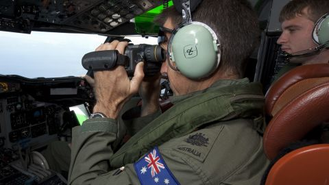 Caption: Search efforts continue for missing Malaysian Flight MH370. Photos provided by Aus Maritime Agency. Credit: Australia Maritime Agency