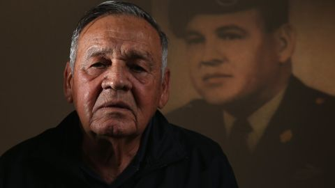 Sgt. 1st Class Jose Rodela was recognized for his heroic actions on September 1, 1969, in Phuoc Long Province, Vietnam, while commanding a mobile strike force. He was wounded in the back and head while trying to save a comrade. He then single-handedly assaulted a rocket position before returning to lead his men. Of the 24 recipients Tuesday, only Rodela, Morris and Erevia are still alive.