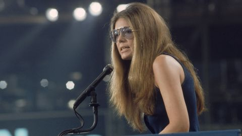 """Steinem speaks at the 1972 Democratic National Convention in Miami, where she nominated Frances """"Sissy"""" Farenthold for vice president. Steinem co-founded the National Women's Political Caucus, which works to increase the number of women in the political field."""