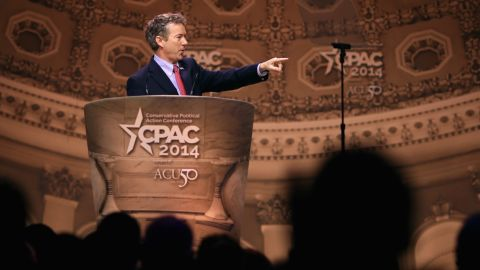 Paul addresses the 2014 Conservative Political Action Conference, where he easily won the presidential straw poll.