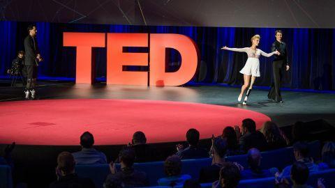 Dancers Adrianne Haslet-Davis and Christian Lightner at TED2014