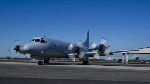 RAAF BASE PEARCE, WESTERN AUSTRALIA - MARCH 19: In this photo provided by the Australian Defence Department, a Royal Australian Air Force AP-3C Orion aircraft from 10 Squadron, No 92 Wing, starts its engines March 19, 2014 at RAAF Base Pearce, Western Australia. The aircraft is to join the Australian Maritime Safety Authority-led search for Malaysia Airlines Flight MH370 in the southern Indian Ocean. Two objects possibly connected to the search for the passenger liner, missing for nearly two weeks after disappearing on a flight from Kuala Lumpur, Malaysia to Beijing, have been spotted in the southern Indian Ocean, according to published reports quoting Australian Prime Minister Tony Abbott. (Photo by Justin Brown/Australian Department of Defence via Getty Images)