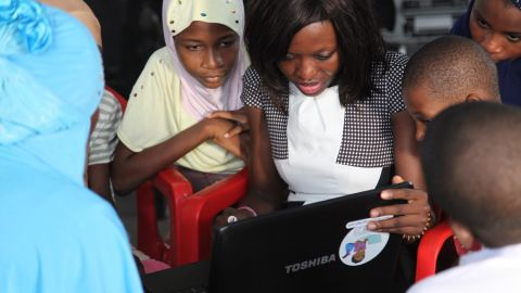 """Last summer, Agyare started an initiative called """"Tech Needs Girls,"""" teaching computer skills to girls living in poor areas."""