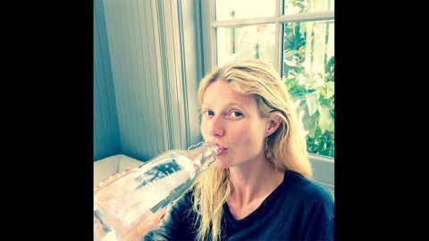 Gwyneth Paltrow also posted an Instagram picture of herself sans makeup in March 2014.