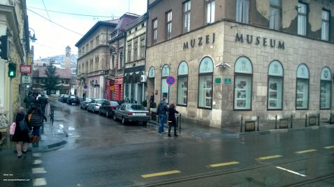 <strong>Sarajevo, Bosnia:</strong> Gavrilo Princip shot Franz Ferdinand as the Archduke of Austria's motorcade was driving down the street. Princip stood on the sidewalk of what's now the Museum of Sarajevo 1878-1918. The assassination triggered a sequence of events that escalated to World War I.