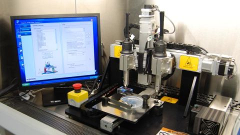 Organovo's NovoGen MMX bioprinter is small enough to fit into a cabinet.