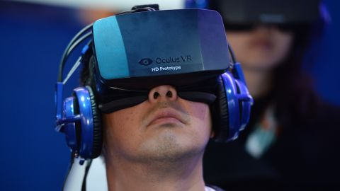 Oculus makes a virtual reality headset which covers users' eyes and immerses them in a virtual environment that responds to their head movements. Facebook said its focus is on investing in the product for the future.