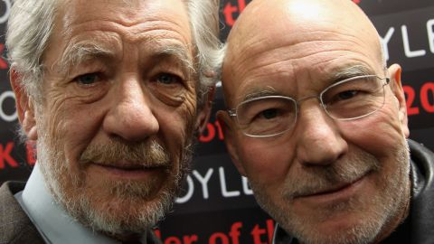 """Co-workers and good friends, """"X-Men"""" stars Ian McKellen and Patrick Stewart have perfected the art of the bromance<a href=""""https://twitter.com/SirPatStew/status/378569295417987074"""" target=""""_blank"""" target=""""_blank"""">.</a> In a new interview with <a href=""""http://www.aarp.org/about-aarp/press-center/info-03-2014/celebrated-actor-and-activist-sir-patrick-stewart-talks-about-embracing-his-troubled-past-to-find-light-in-the-darkness-and-his-bromance-with-sir-ian-mckellen-in-the-april-may-issue-of-aarp-the-magazine.html"""" target=""""_blank"""" target=""""_blank"""">AARP magazine</a>, McKellen said that Stewart is """"straightforward,"""" but """"his nature is a very sweet one. And we spend much of our time laughing."""" The way all bros should."""